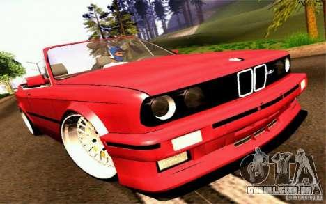 BMW E30 M3 Cabrio para GTA San Andreas traseira esquerda vista