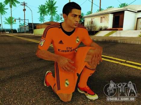 Cristiano Ronaldo v3 para GTA San Andreas quinto tela