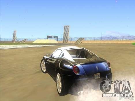 Ferrari 599 GTB Fiorano para GTA San Andreas vista traseira
