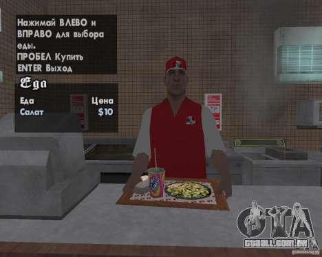 Novas texturas de restaurantes e lojas para GTA San Andreas sexta tela