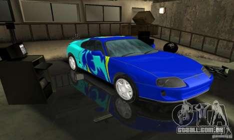 Toyota Supra Tuneable para GTA San Andreas vista traseira