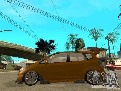 Honda Jazz Sport para GTA San Andreas esquerda vista