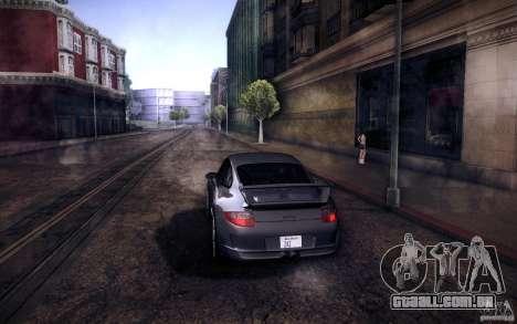 Porsche 911 GT3 (997) 2007 para GTA San Andreas traseira esquerda vista