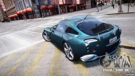 TVR Sagaris para GTA 4 traseira esquerda vista