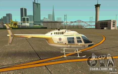 Bell 206 B Police texture4 para GTA San Andreas traseira esquerda vista