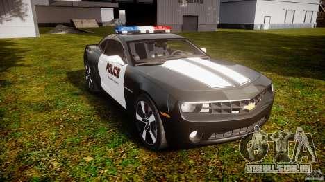 Chevrolet Camaro Police (Beta) para GTA 4 vista de volta