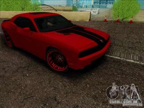 Dodge Quinton Rampage Jackson Challenger SRT8 v1 para GTA San Andreas vista traseira