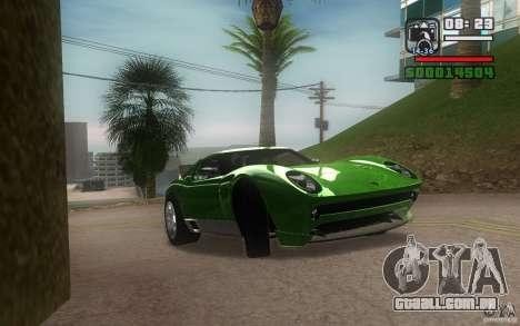 Lamborghini Miura Concept para GTA San Andreas traseira esquerda vista