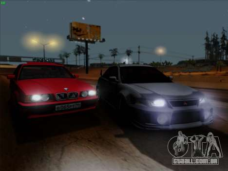 Mitsubishi Lancer Evolution VI para vista lateral GTA San Andreas