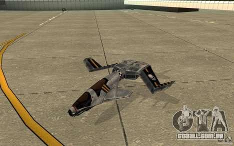 Falcão ar comando e Conquer 3 para GTA San Andreas esquerda vista