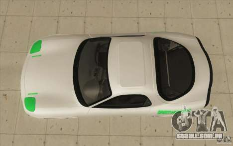 Mazda FD3S - Ebisu Style para GTA San Andreas vista direita