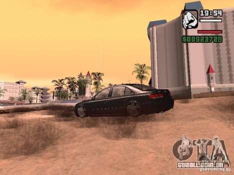 Hyundai Sonata Edit para GTA San Andreas traseira esquerda vista