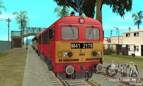 M41 Locomotiva a Diesel para GTA San Andreas traseira esquerda vista
