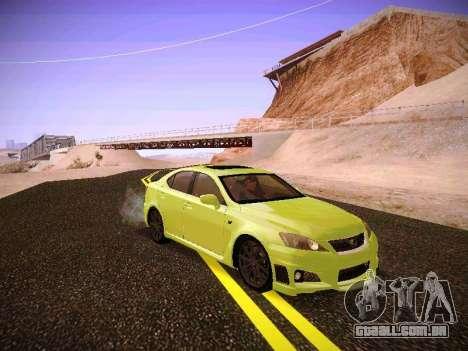 Lexus I SF para GTA San Andreas esquerda vista