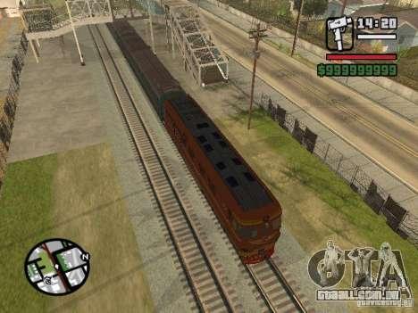 TEP-60 locomotiva para GTA San Andreas esquerda vista