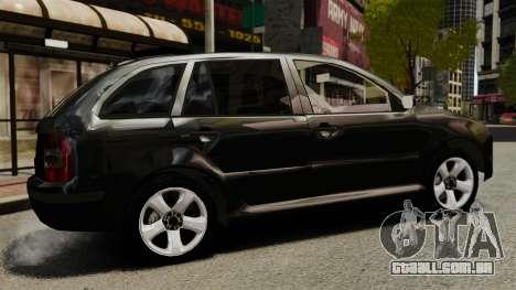 Skoda Fabia Combi Unmarked ELS para GTA 4 esquerda vista