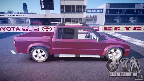 Chevrolet S10 para GTA 4 vista lateral