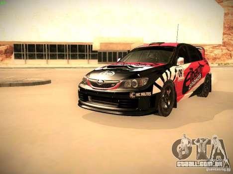 Subaru Impreza Gymkhana para GTA San Andreas interior