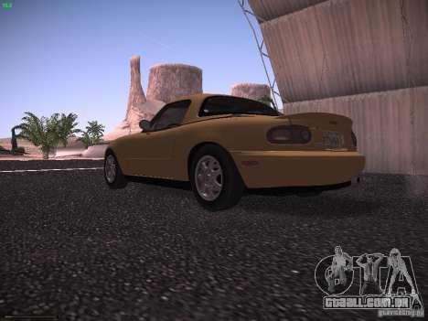 Mazda MX-5 1997 para GTA San Andreas traseira esquerda vista