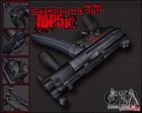 MP5K para GTA San Andreas segunda tela