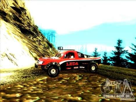 Toyota Tundra Rally para GTA San Andreas traseira esquerda vista
