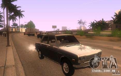 Datsun 510 4doors para GTA San Andreas vista traseira