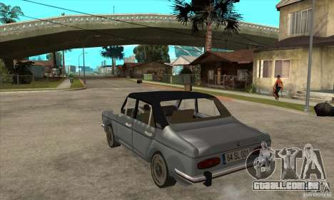 Anadol A1 SL 1975 para GTA San Andreas traseira esquerda vista