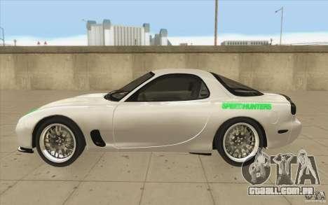 Mazda FD3S - Ebisu Style para GTA San Andreas esquerda vista