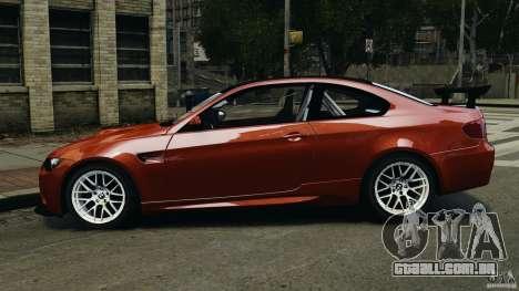 BMW M3 GTS 2010 para GTA 4 esquerda vista