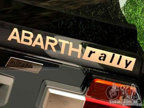 Fiat 131 Abarth Rally para GTA San Andreas traseira esquerda vista