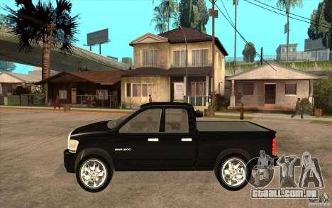 Dodge Ram 2500 2008 para GTA San Andreas esquerda vista