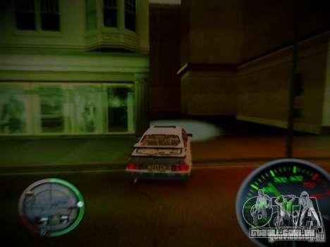 Velocímetro por Centrale v2 para GTA San Andreas por diante tela