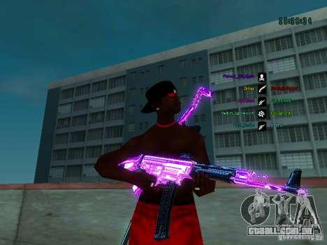 Cromo roxo em armas para GTA San Andreas por diante tela