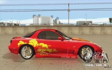 Mazda RX-7 - FnF2 para GTA San Andreas vista interior