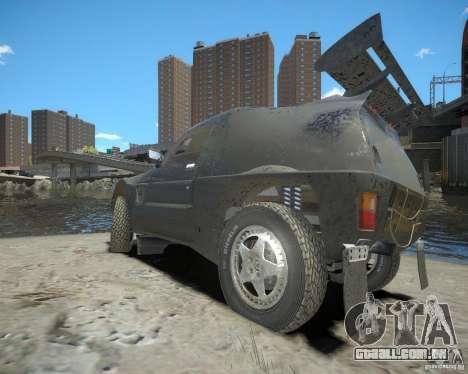 Mitsubishi Pajero Proto Dakar EK86 para GTA 4 vista direita