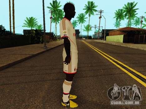 Mario Balotelli v2 para GTA San Andreas segunda tela