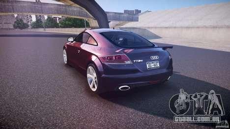 Audi TT RS v3.0 2010 para GTA 4 traseira esquerda vista