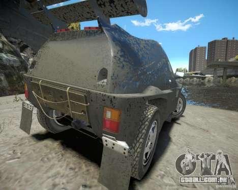 Mitsubishi Pajero Proto Dakar EK86 para GTA 4 traseira esquerda vista
