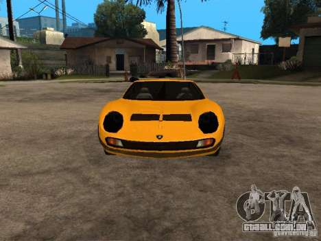 Lamborghini Miura para GTA San Andreas vista traseira
