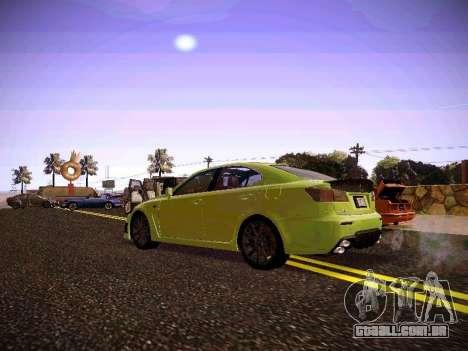 Lexus I SF para GTA San Andreas vista direita