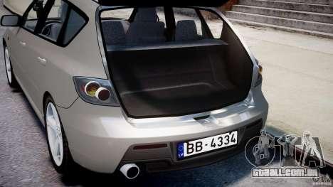Mazda 3 2004 para GTA 4 vista inferior