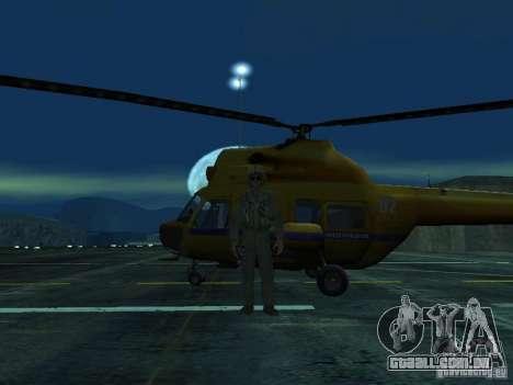 Polícia mi-2 para GTA San Andreas vista interior