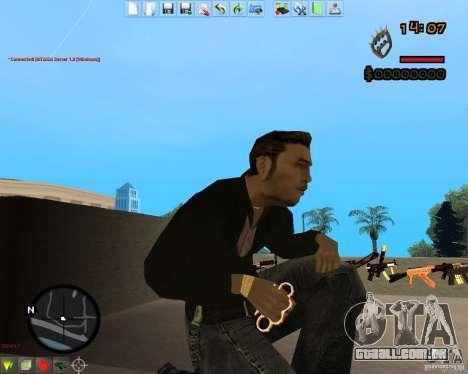 Smalls Chrome Gold Guns Pack para GTA San Andreas terceira tela