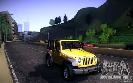 Jeep Wrangler Rubicon 2012 para GTA San Andreas vista interior