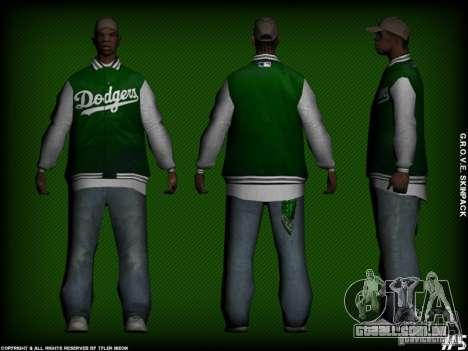 G.R.O.V.E. Skinpack para GTA San Andreas sexta tela