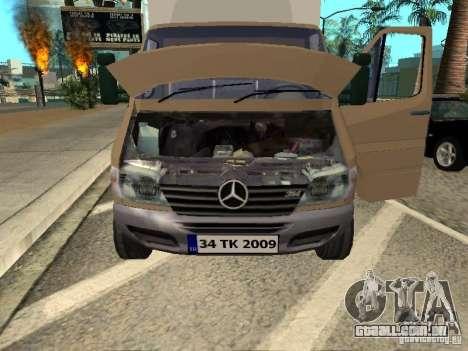Mercedes-Benz Sprinter para GTA San Andreas vista direita