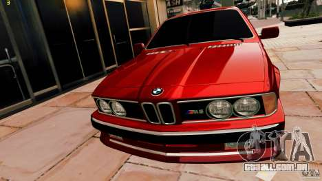 BMW M6 1985 Tuning Final para GTA 4 traseira esquerda vista