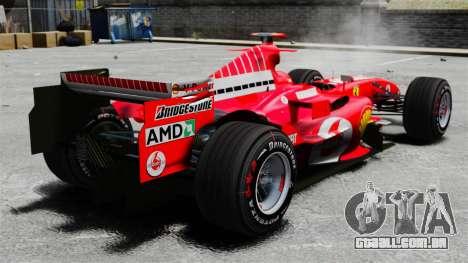 Ferrari F2005 para GTA 4 traseira esquerda vista