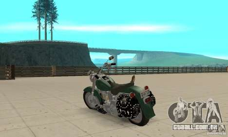 Harley Davidson FLSTF (Fat Boy) v2.0 Skin 1 para GTA San Andreas traseira esquerda vista