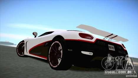 Koenigsegg Agera R 2012 para GTA San Andreas vista direita